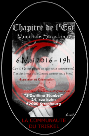 160506 – Chapitre de l'Est – Vendredi 6 Mai 2016 – 19h – Munch de Strasbourg