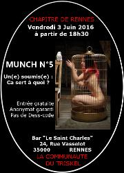 160603 – Chapitre de Rennes – Vendredi 3 Juin 2016 – 18h30 – Munch N°5 – 35000 RENNES