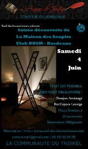 160604 – Chapitre de Bordeaux – Samedi 4 Juin 2016 – 21h – Soirée Découverte – La Maison des soupirs 33000 BORDEAUX