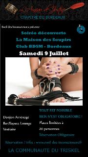 160709 – Chapitre de Bordeaux – Samedi 9 juillet 2016 – 21h – Découverte de La Maison des Soupirs 33000 BORDEAUX