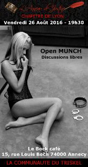 160826 – Chapitre de Lyon – Vendredi 26 Août 2016 – 19h30 – Open Munch – Le Bock Café – 74000 ANNECY