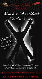161021 – Chapitre Nord – Vendredi 21 Octobre 2016 – Munch et After Munch de Charleroi