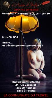 161104 – Chapitre de Rennes – Vendredi 4 Novembre 2016 – 18h30 – Munch N°8 – Bar Le Saint Charles – 35000 RENNES