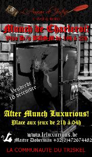 161216 – Chapitre Nord – Vendredi 16 Décembre 2016 – Munch et After Munch de Charleroi