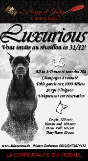 161231 – Chapitre Nord – Samedi 31 Décembre 2016 – 20h – Réveillon D/S BDSM – Le Luxurious – Gerpinnes prèes de Charleroi