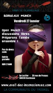 170127 – Chapitre de Bordeaux – Vendredi 27 Janvier 2017 – 21h – Bordeaux Munch – Le Lucifer – 33000 Bordeaux