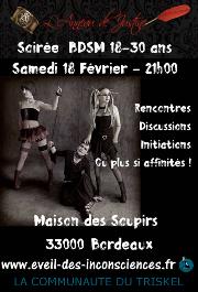 170218 – Chapitre de Bordeaux – Samedi 18 Février 2017 – 21h – Soirée 18-30ans – Maison des Soupirs – 33000 Bordeaux