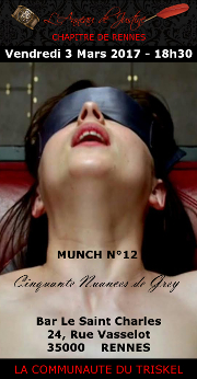 170303 – Chapitre de Rennes – Vendredi 3 Mars 2017 – 18h30 – Munch N°12 – Bar Le Saint Charles – 35000 RENNES
