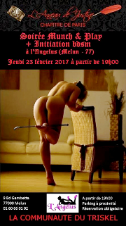 170223 – Chapitre de Paris – Jeudi 23 février 2017 – 19h – Munch and Play – l'Angélus – 77000 MELUN