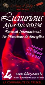 170324 – Chapitre Nord – Samedi 24 Mars 2017 – 21h – Soirée D/s BDSM – Luxurious – Gerpinnes/Belgique
