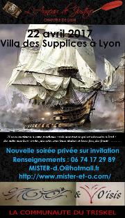 170422 – Chapitre de Lyon – Samedi 22 Avril 2017 – 20h – Soirée BDSM – La villa des supplices – LYON