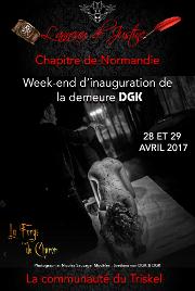 170428 – Chapitre de Normandie – Vendredi 28 et Samedi 29 Avril 2017 – 20h – Inauguration de la Demeure DGK – Eure (27)