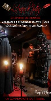 1704214 – Chapitre de Rennes – Vendredi 14 et Samedi 15 Avril – 20h – Weekend de Paques au Manoir – 29 – Finistère