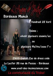170428 – Chapitre de Bordeaux – Vendredi 28 Avril 2017 – 21h – Munch – Le Lucifer – 33000 BORDEAUX