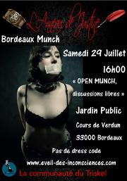 170729 – Chapitre de Bordeaux – Samedi 29 Juillet 2017 – 16h – MUNCH – Jardin Public Cours de Verdun – 33000 BORDEAUX