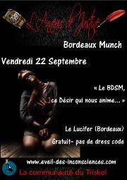 170922 – Chapitre de Bordeaux – Vendredi 22 Septembre 2017 – 21h – MUNCH – Le Lucifer – 33000 BORDEAUX