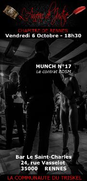 171006 – Chapitre de Rennes – Vendredi 6 Octobre 2017 – 18h30 – Munch N°17 – Bar Le Saint Charles – 35000 – Rennes