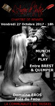 171027 – Chapitre de Rennes – Vendredi 27 Octobre 2017 – Munch & Play – Entre QUIMPER et BREST