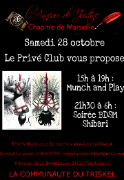 171028 – Chapitre de Marseille – Samedi 28 Octobre 2017 – Munch & Shibari – Le Privé – 34110 FRONTIGNAN
