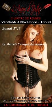 171103 – Chapitre de Rennes – Vendredi 3 Novembre 2017 – 18h30 – Munch – Bar le Saint-Charles – 35000 RENNES