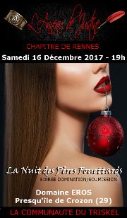 171216 – Chapitre de Rennes – Samedi 16 Décembre 2017 – 19h – Soirée D/S – Domaine EROS – Presqu'île de Crozon