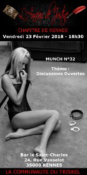 180223 – Chapitre de Rennes – Vendredi 23 Février 2018 – 18h – Munch – Bar Le Saint Charles – 35000 RENNES