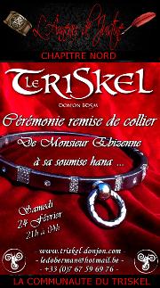 180224 – Chapitre Nord – Samedi 24 Février 2018 – 21h – Soirée D/s BDSM – Le Triskel 59970 FRESNES sur Escaut