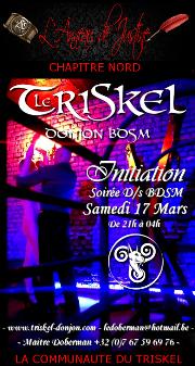 180317 – Chapitre Nord – Samedi 17 Mars 2018 – 21h – Soirée D/s BDSM – Le Triskel – 59970 – Fresnes-sur-Escaut