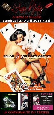 180427 – Chapitre de Toulouse – Vendredi 27 Avril 2018 – 21h – Soirée BDSM – La Matronne – 31830 Plaisance-du-Touch