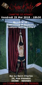 180525 – Chapitre de Rennes – Vendredi 25 Mai 2018 – 18h30 – 35éme Munch de Rennes – Bar Le Saint Charles – 35000 RENNES