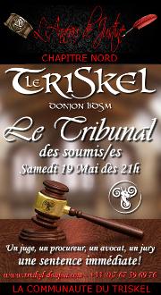 180519 – Chapitre Nord – Samedi 19 Mai 2018 – 21h – Le Tribunal des soumis(es) – Soirée D/S BDSM – Le Triskel Donjon
