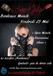 180525 – Chapitre de Bordeaux – Vendredi 25 Mai 2018 – 21h – Open Munch – Le Lucifer – 33000 Bordeaux
