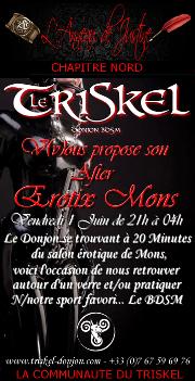 180601 – Chapitre Nord – Vendredi 1er Juin 2018 – 21h – After EROTIX Mons – Le Triskel Donjon