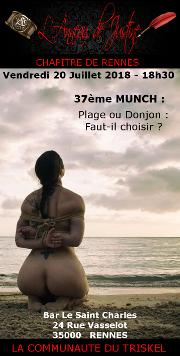 180720 – Chapitre de Rennes – Vendredi 20 Juillet 2018 – 18h30 – 37ème Munch – Le Saint Charles – 35000 RENNES