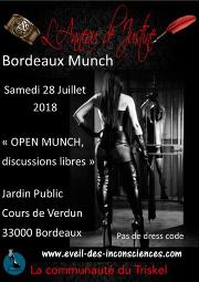 180728 – Chapitre de Bordeaux – Samedi 28 Juillet 2018 – 16h – Open Munch – Jardin Public – 33000 BORDEAUX