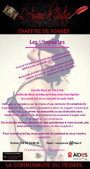 """180824 – Chapitre de Rennes – Vendredi 24 et Samedi 25 Août 2018 dès 17h – Festival """"Les Utopiades"""" – Un grand Domaine entre Brest et Quimper"""