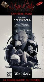 180824 – Chapitre Nord – Vendredi 24 et Samedi 25 Août 2018 – Anniversaire Maître Doberman – Le Triskel Donjon