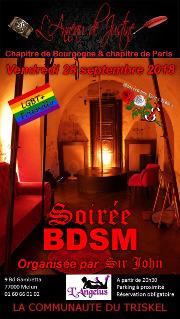 180928 – Chapitre de Bourgogne et de Paris – Vendredi 28 Septembre 2018 – 20h30 – SOIREE BDSM – l'Angélus 77000 MELUN