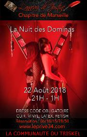 180822 – Chapitre de Marseille – Mercredi 22 Août 2018 – 21h – La Nuit des Dominas – Le privé – 34110 FRONTIGNAN