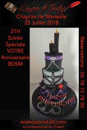 180725 – Chapitre de Marseille – Mercredi 25 Juillet 2018 – 21h – SOIREE BDSM – Le Privé – 34110 FRONTIGNAN