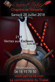 180728 – Chapitre de Marseille – Samedi 28 Juillet 2018 – 21h – Vente aux esclaves – Le Privé – 34110 FRONTIGNAN