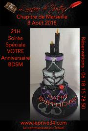 180808 – Chapitre de Marseille – Mercredi8 Août 2018 – 21h – Soirée BDSM – Le Privé 34110 FRONTIGNAN