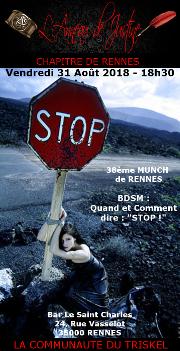 180831 – Chapitre de Rennes – Vendredi 31 Août 2018 – 18h30 – 38ème Munch de Rennes – Bar le Saint Charles – 35000 RENNES