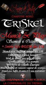 181006 – Chapitre Nord – Samedi 6 Octobre 2018 – Munch et Soirée D/s BDSM – Le Triskel Donjon