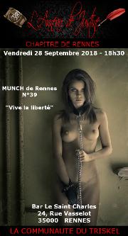 180928 – Chapitre de Rennes – Vendredi 28 Septembre 2018 – 18h30 – Munch N°39 – Bar Le Saint Charles – 35000 RENNES