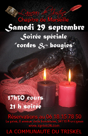 180929 – Chapitre de Marseille – Samedi 29 Septembre 2018 – Initiation Shibari et Soirée Cordes – Le Privé 34110 Frontignan