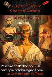 181231 – Chapitre de Marseille – Lundi 31 Décembre 2018 – Nouvel an Marquis de Sade – Le Privé – 34110 FRONTIGNAN