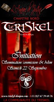 180922 – Chapitre Nord – Samedi 22 Septembre 2018 – 21h – Soirée Initiation – Le Triskel Donjon