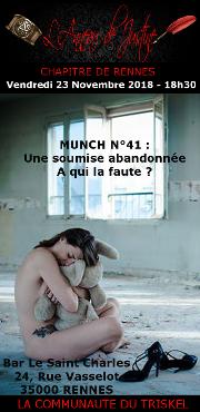 181123 – Chapitre de Rennes – Vendredi 23 Novembre 2018 – 18h30 – 41éme MUNCH – Bar Le Saint Charles – 35000 RENNES