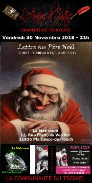 181130 – Chapitre Nord – Vendredi 30 Novembre 2018 – 21h – Soirée BDSM – 31830 Plaisance-du-Touch